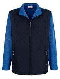 Fleece vest met stiksels voor