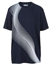 T-shirt met contrasterende print
