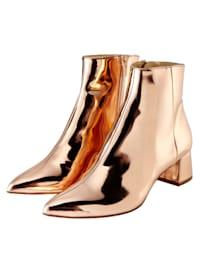 Stiefelette Metallic-Look mit Spiegelbeschichtung