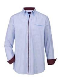 Overhemd met ingewerkte paspelzak