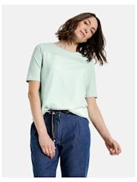 Shirt mit Chiffonbesatz