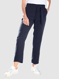 Pantalon avec liens à nouer