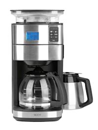 """Machine à café filtre duo """"POUR OVER"""", moulin à cône intégré, fonction de minuterie, carafe en verre et isolante"""