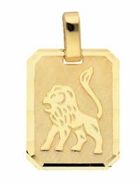 1001 Diamonds Damen & Herren Goldschmuck 333 Gold Sternzeichen Anhänger Löwe