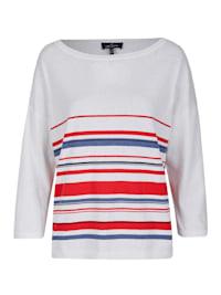 Sommerlicher Pullover mit Streifenmuster