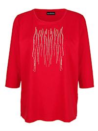 Shirt mit dekorativen Plättchen vorne
