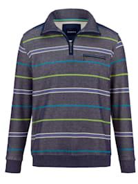 Sweat-shirt de finition bicolore