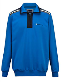 Sweatshirt mit aufwändigen Kontrastdetails