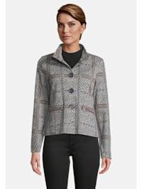 Blazer-Jacke mit Stehkragen Muster