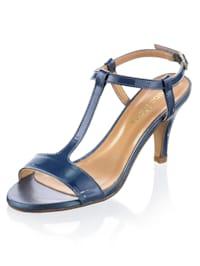 Sandály z lakované hovězí kůže