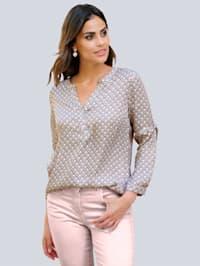 Blus med exklusivt Alba Moda-mönster