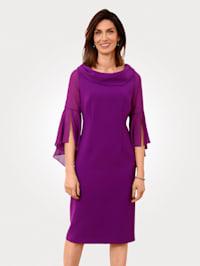 Kleid mit Chiffoneinsatz