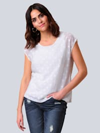 Blusenshirt in transparenter Ausbrenner-Qualität