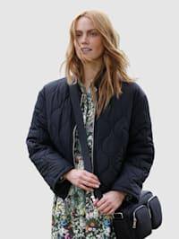 Gewatteerde jas met trendy stiksels