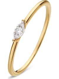 CHRIST Damen-Damenring 3 Diamant