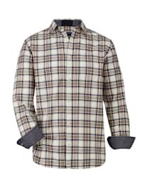 Flanelová košeľa príjemná zdrsnená kvalita