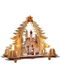Trädekoration, by med kyrka