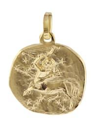 Sternzeichen-Anhänger Schütze 585 Gold 16mm