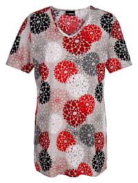 Longshirt in een mooie kleurencombinatie
