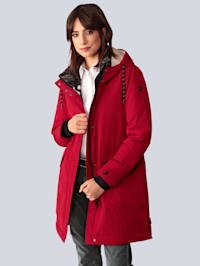 Manteau court à capuche