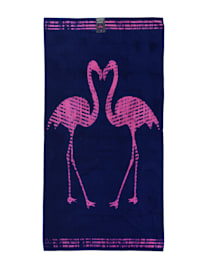 Strandtuch Velour 'Flamingos'