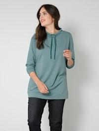 Sweatshirt met opstaande kraag