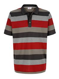 Poloskjorte med stripemønster