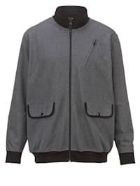 Sweatshirtjacka med praktiska fickor