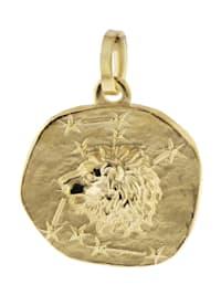 Sternzeichen-Anhänger Löwe 333 Gold 16 mm