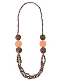 Halskette aus Holzelementen