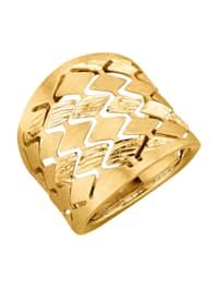 Damenring in Gelbgold 375
