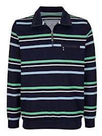 Sweatshirt met fijne ribstructuur