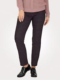 Pantalon à motif graphique devant et dos