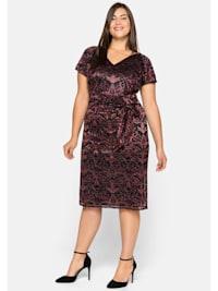 Kleid figurnah in Wickeloptik