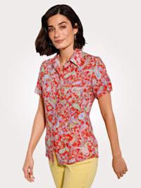 Skjortebluse med paisleyprint
