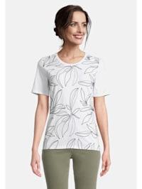 Basic Shirt mit Stickerei