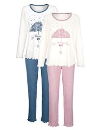 Pyjamas à motif devant