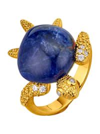 Schildkröten-Ring mit Sodalith