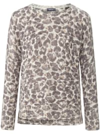 Moderner Pullover mit Animalprint