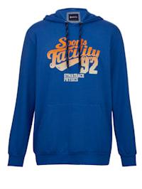 Sweatshirt in typische hoodiestyle