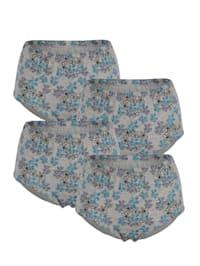 Taillenslips im 4er-Pack mit extra hoher Leibhöhe