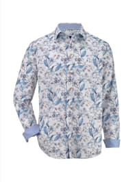 Chemise à motif imprimé fleuri