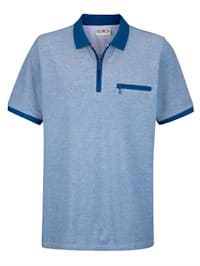 Poloshirt in Jacquard-Qualität