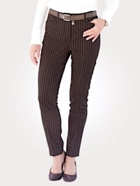 Trousers in a textured finish