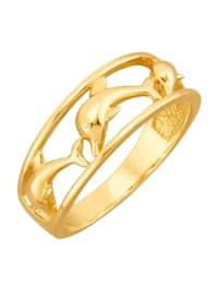 Bague Dauphins en or jaune 585