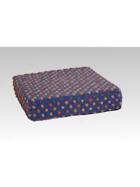 Sitzkissen Sitzerhöhung Aufstehhilfe Auto Wolle Noppen blau 40/40/10 cm