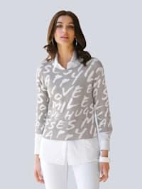 Pulovr s exkluzivním Alba Moda vzorem