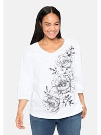 Shirt mit Blumendruck, in leichter A-Linie