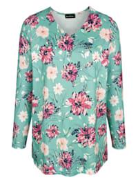 Tričko s módním květinovým vzorem