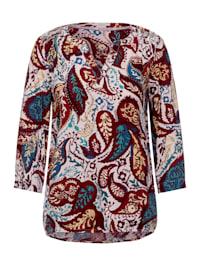 Paisley Print Bluse